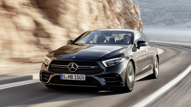 Обои картинки фото mercedes-benz amg cls-53 4matic  2019, автомобили, mercedes-benz, 4matic, 2019, cls-53, amg, чёрный