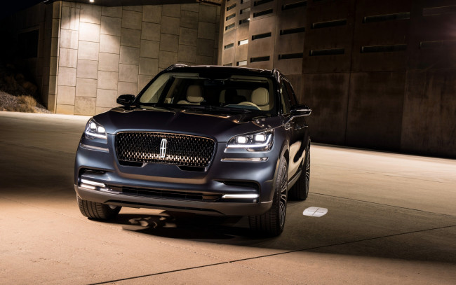 Обои картинки фото 2019 lincoln aviator, автомобили, lincoln, элекроткар, new, luxury, suv, джип, front, view, 2019, aviator, electric, cars, линкольн