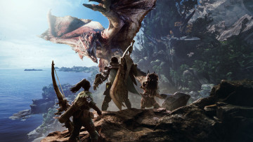 обоя monster hunter world, видео игры, action, ролевая, monster, hunter, world