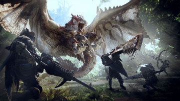 обоя monster hunter world, видео игры, monster, hunter, world, ролевая, action