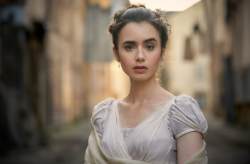 обоя кино фильмы, les miserables, платье, роль, актриса, lily, collins