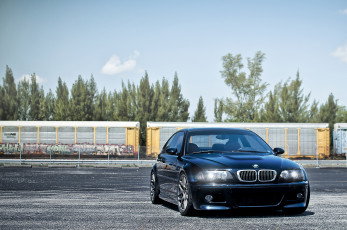 Картинка автомобили bmw dark blue m3 e46
