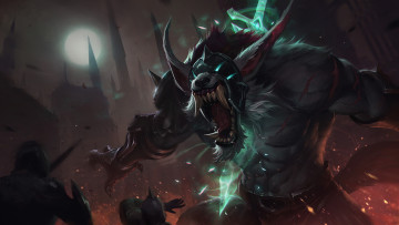 Картинка видео+игры league+of+legends оборотень город луна warwick