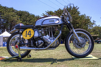 обоя 1963 norton es2 modified, мотоциклы, norton, байк