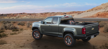Картинка автомобили chevrolet colorado zr2 concept 2014г темный