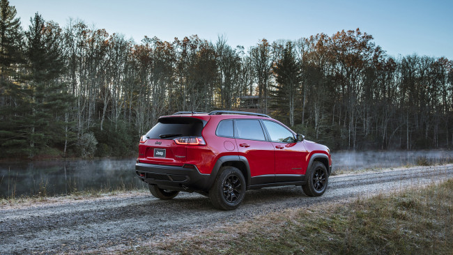 Обои картинки фото jeep cherokee trailhawk 2019, автомобили, jeep, trailhawk, cherokee, red, 2019