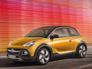 Картинка автомобили opel adam rocks 2014г желтый