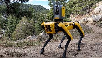 обоя компьютеры, -unknown , разное, robot, dog, spot, boston, dynamics, желтый