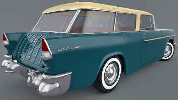 Картинка автомобили 3д air bel chevrolet 1955 nomad