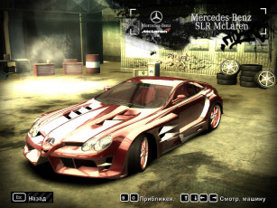 Картинка mercedes benz slr видео игры need for speed most wanted