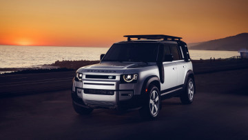 обоя 2021 land rover defender, автомобили, land-rover, first, edition, 2021, urban, pack, land, rover, defender, внедорожник, побережье