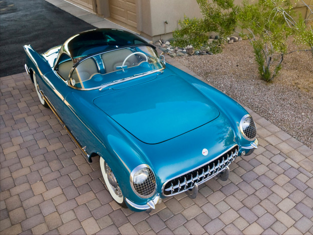 Обои картинки фото corvette c1 bubbletop 1954, автомобили, corvette, c1, bubbletop, 1954