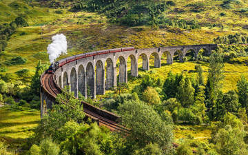обоя техника, паровозы, glenfinnan, viaduct