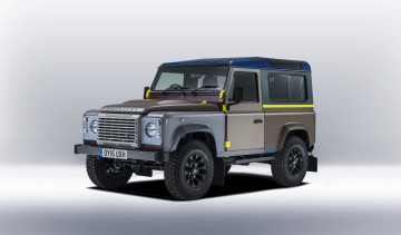 Картинка автомобили land-rover land rover defender 90 by paul smith 2015г