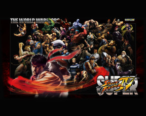 обоя super, street, fighter, iv, видео, игры