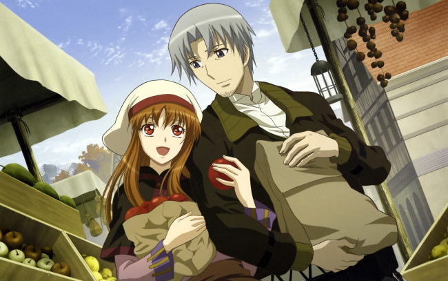 Обои картинки фото аниме, spice and wolf, horo, spice, and, wolf, craft, lawrence, девушка, арт
