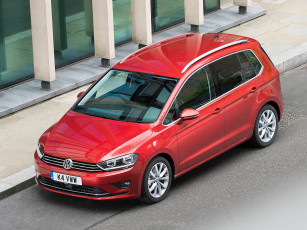 Картинка автомобили volkswagen golf красный 2014г sv