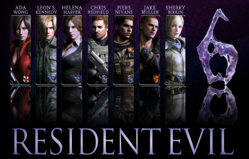 обоя видео игры, resident evil 6, biohazard, 6, helena, harper, jake, chris, redfield, resident, evil, piers, nivans, ada, wong, sherry, birkin, leon, scott, kennedy, game