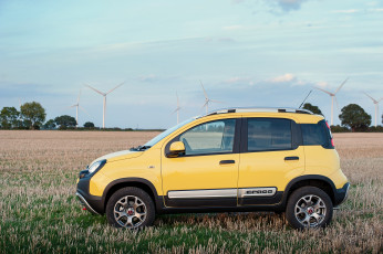 Картинка автомобили fiat желтый 2014г 319 uk-spec cross panda