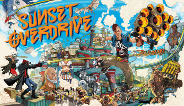 обоя видео игры, sunset overdrive, экшен, шутер, overdrive, sunset