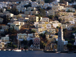 Картинка harbor town of yialos island symi greece города