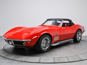 обоя corvette stingray l46-350 convertible 1969, автомобили, corvette, stingray, convertible, l46-350, 1969