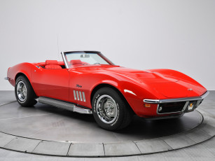 обоя corvette stingray l46-350 convertible 1969, автомобили, corvette, convertible, l46-350, 1969, stingray