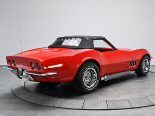 обоя corvette stingray l46-350 convertible 1969, автомобили, corvette, 1969, convertible, l46-350, stingray