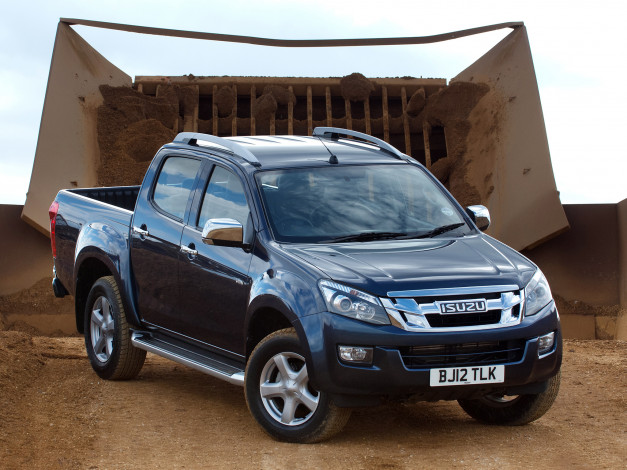 Обои картинки фото isuzu d-max double cab uk-spec 2012, автомобили, isuzu, d-max, double, cab, uk-spec, 2012