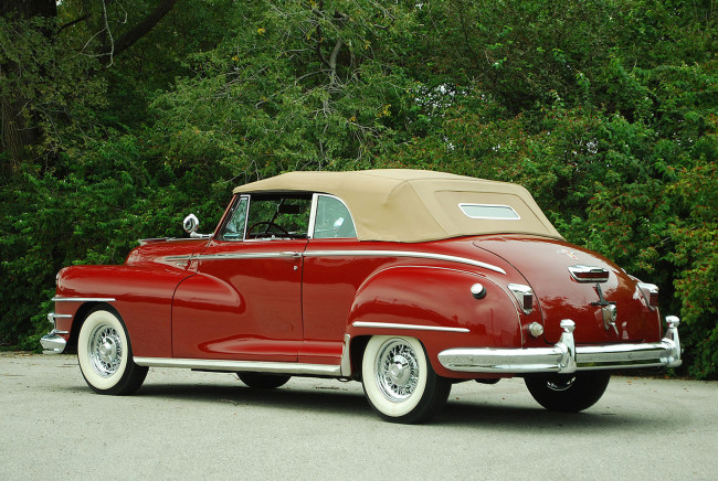 Обои картинки фото chrysler windsor convertible 1946, автомобили, chrysler, windsor, 1946, convertible