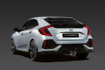 обоя автомобили, honda, 2016г, civic, prototype, hatchback