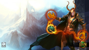Картинка видео+игры heroes+of+newerth горы бог fan art heroes of newerth loki corrupted disciple