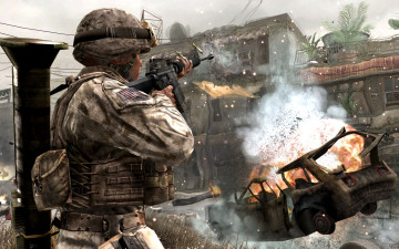 обоя call, of, duty, modern, warfare, видео, игры, 4, игра, шутер