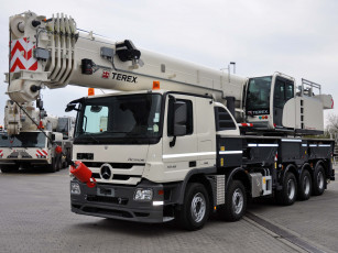 Картинка техника краны terex paul 10x4-6 mit actros 5548 mercedes-benz roadmaster 5300