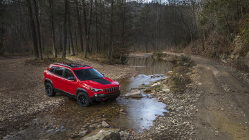 Картинка jeep+cherokee+trailhawk+2019 автомобили jeep red 2019 trailhawk cherokee