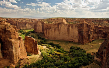 Картинка canyon de chelly national monument природа горы дорога леса каньон