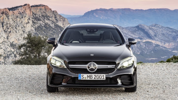 Картинка mercedes-benz+amg+c43+coupe+4matic+night+package+2019 автомобили mercedes-benz c43 coupe 4matic night amg carbon package 2019