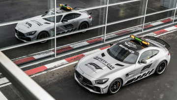 обоя mercedes-benz amg gt-r formula-1 safety car 2018, автомобили, полиция, amg, mercedes-benz, 2018, car, safety, formula-1, gt-r