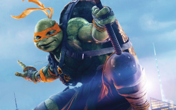 обоя кино фильмы, teenage mutant ninja turtles,  out of the shadows, tmnt, michelangelo, out, of, the, shadows