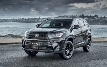 обоя 2019 toyota highlander black edition, автомобили, toyota, 2019, highlander, тюнинг, 4k, kluger, black, edition, тойота, японские, xu50