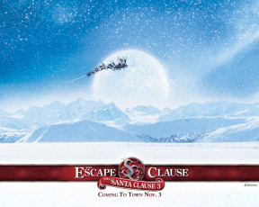 обоя the, santa, clause, escape, кино, фильмы