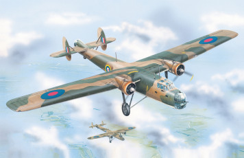 Картинка авиация 3д рисованые v-graphic aviation ww2 british bomber bristol bombay mk-i drawing airplane aircraft painting war art