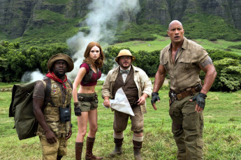 Картинка кино+фильмы jumanji +welcome+to+the+jungle kevin hart karen gillan jack black dwayne johnson
