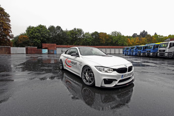 Картинка 2014+bmw+m4+f32+ lightweight автомобили bmw тюнинг белый