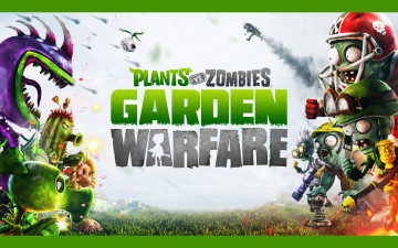 обоя видео игры, plants vs,  zombies,  garden warfare, зомби, растение