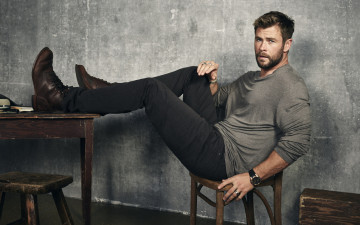 обоя мужчины, chris hemsworth, усы, бородка