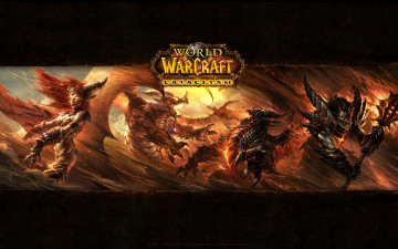 обоя world, of, warcraft, cataclysm, видео, игры, битва
