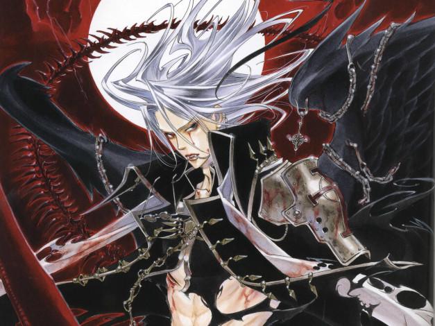 Oboi Anime Trinity Blood Krovavye Slezy Vampir Chernyj Rycar