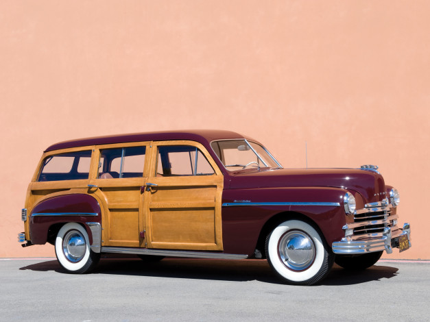 Обои картинки фото plymouth special deluxe station wagon 1949, автомобили, plymouth, 1949, wagon, station, deluxe, special