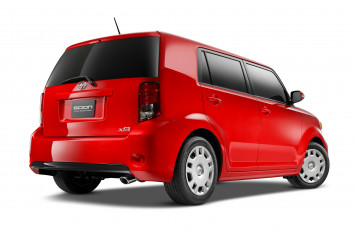 Картинка автомобили scion xb красный 2013г